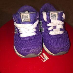 Purple New balance Toddler size 4